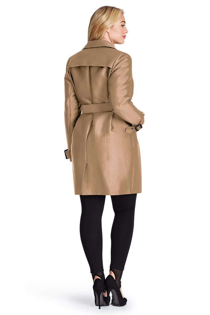 Taupe Belted Trench Coat