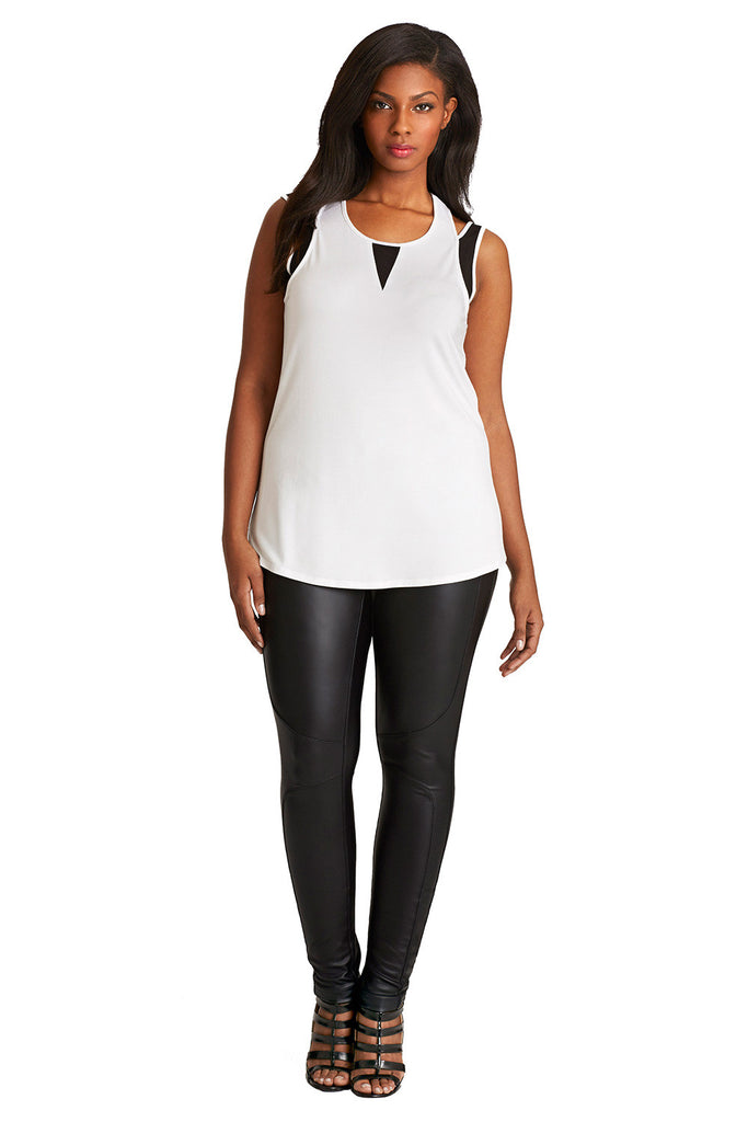 PLUS SIZE WHITE MODAL TANK