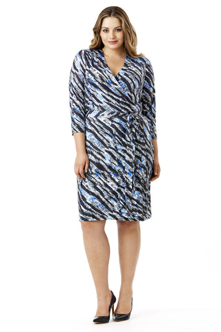 MYNT 1792 ZEBRA PRINT WRAP DRESS