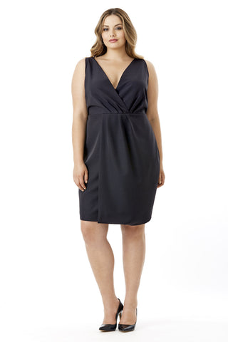 MYNT 1792 BLACK DRAPEY OVERLAY DRESS