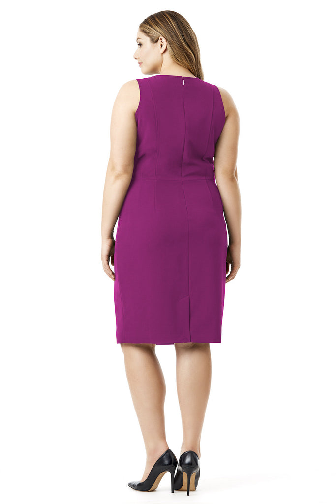MYNT 1792 FUCHSIA DRAPEY OVERLAY DRESS
