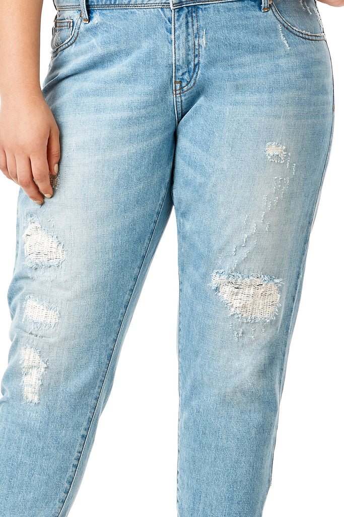 MYNT 1792-DESTRUCTED BOYFRIEND JEAN LIGHT
