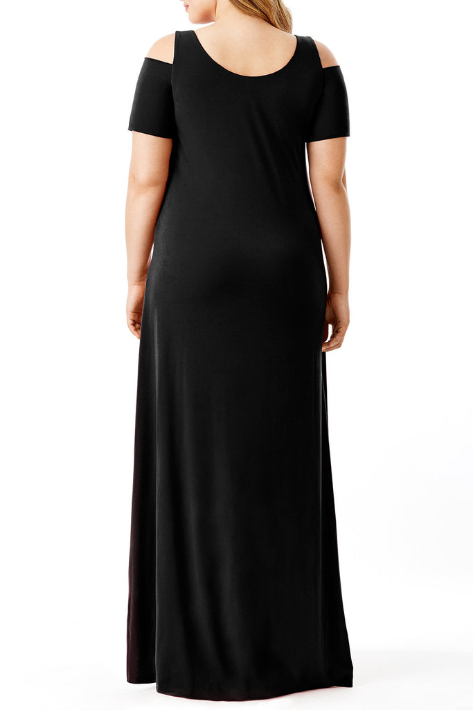 MYNT 1792 - COLD SHOULDER MAXI DRESS