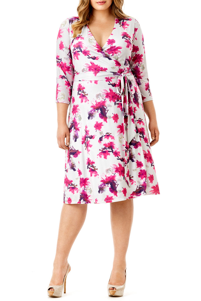 MYNT 1792 - EXOTIC FLORAL ITY WRAP DRESS