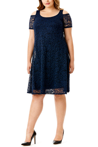 MYNT 1792 - LACE COLD SHOULDER DRESS