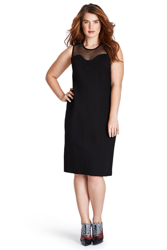 PLUS SIZE BLACK BODYCON DRESS