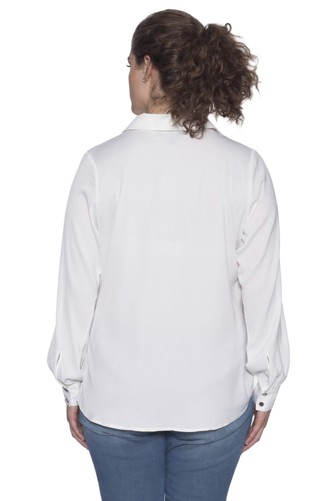 Plus Size White Button Down