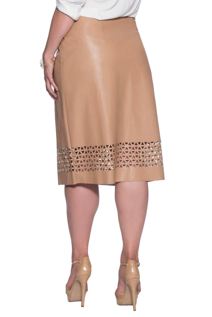 FLATTERING LASER CUT SKIRT IN PLUS
