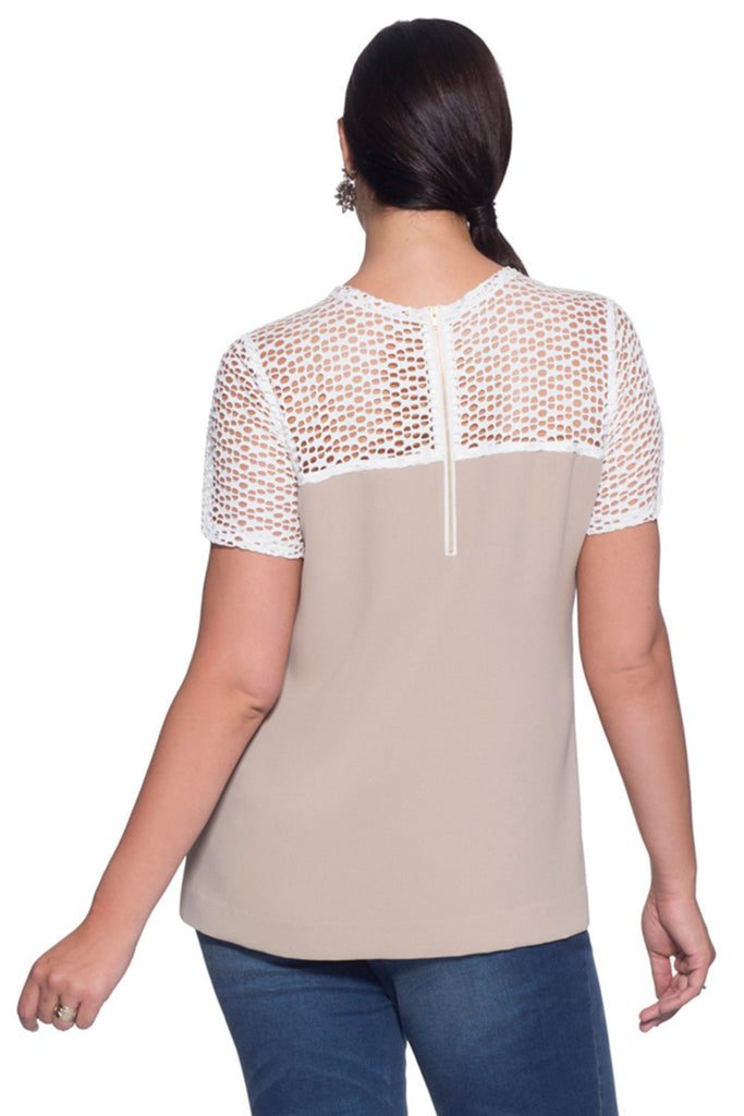 MYNT 1792 Plus Size Mesh Top