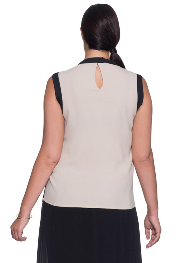 SLIMMING PLUS SIZE RIB TANK IN TAN