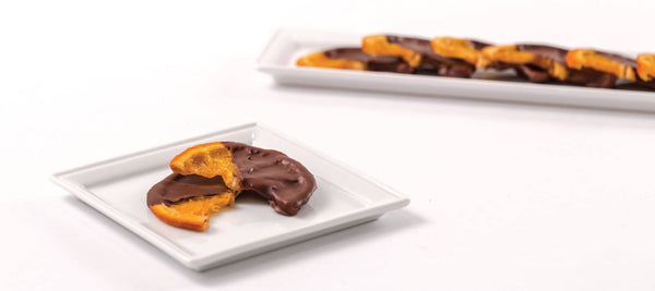 Chocolate Dipped Candied Tangerine Slices