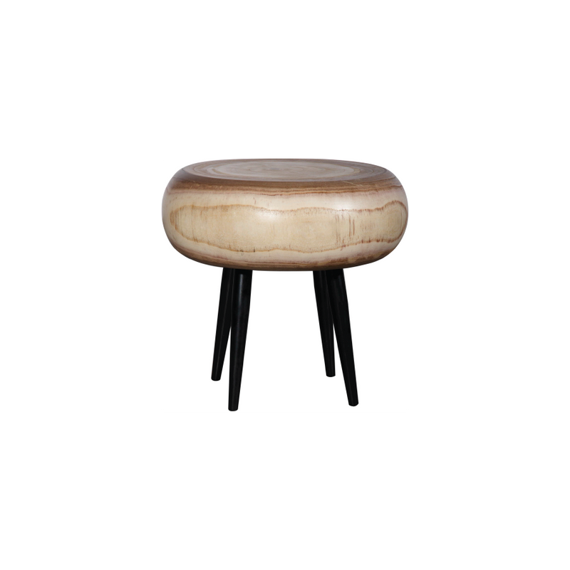 Natural Wood Disc Stool
