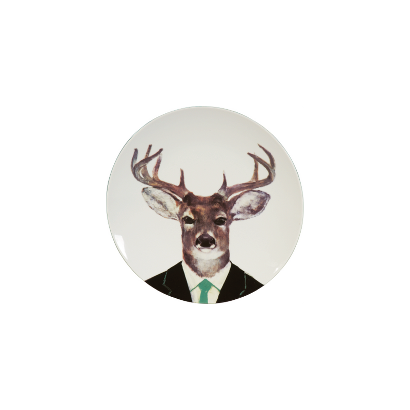 Buy Stag Head Ceramic Plate Online | Home Furnishing