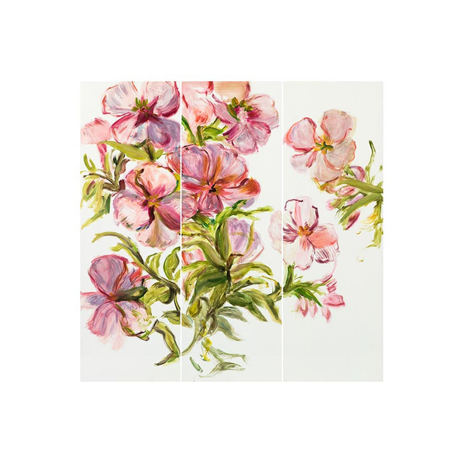 Handpainted Blossoms Wall Panel