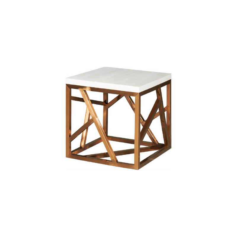 Petras Rose Gold End Table