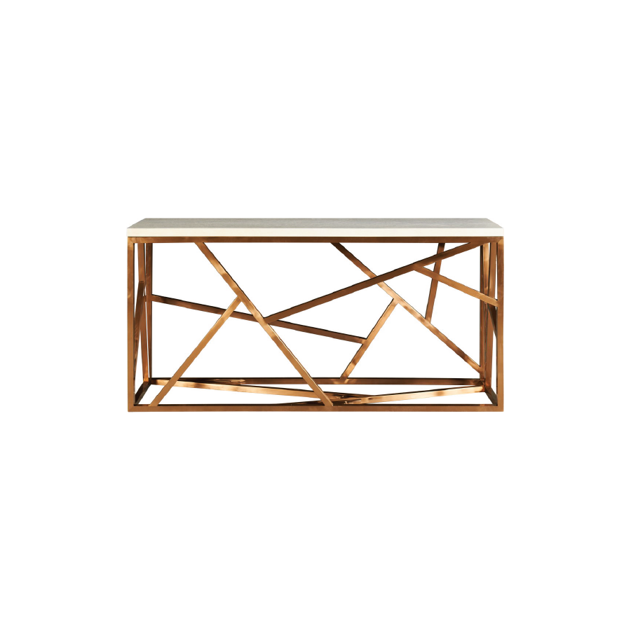 Buy Petras Rose Gold Console Online | Luxury Furniture