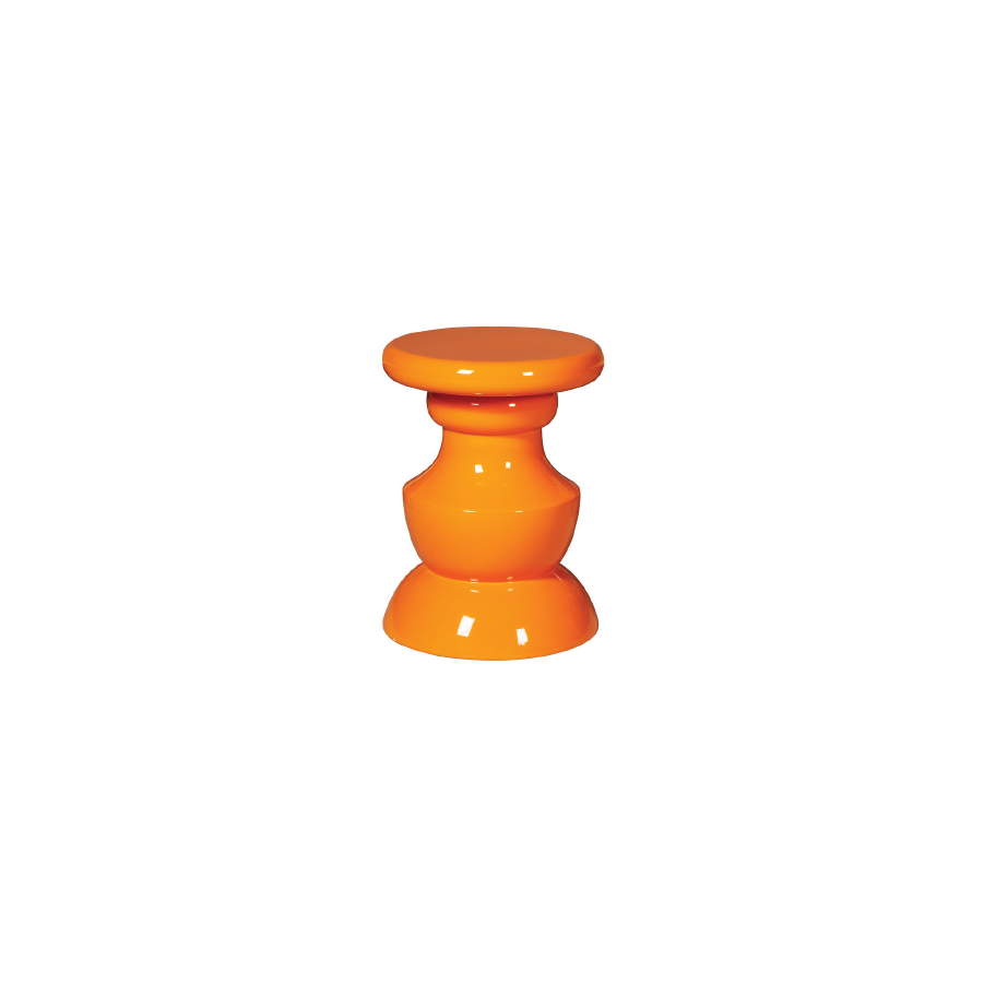 Buy Retro Orange Wooden Stool | Modern Luxury Furniture