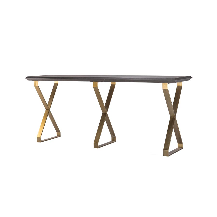 Buy Tri-Clip Gold Console Online | Luxury Furniture