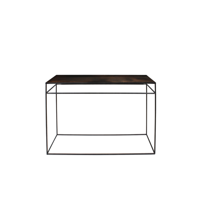 Bronze Copper Leaf Mirrored Console
