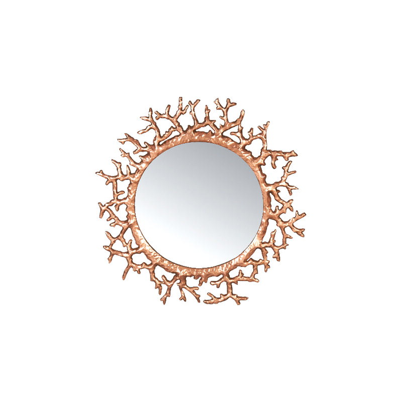 Buy Rose Gold Coral Mirror Online | Home Furnishing Pakistan