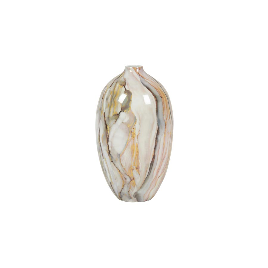 Buy Light marble porcelain narrow vase | Home Furnishing