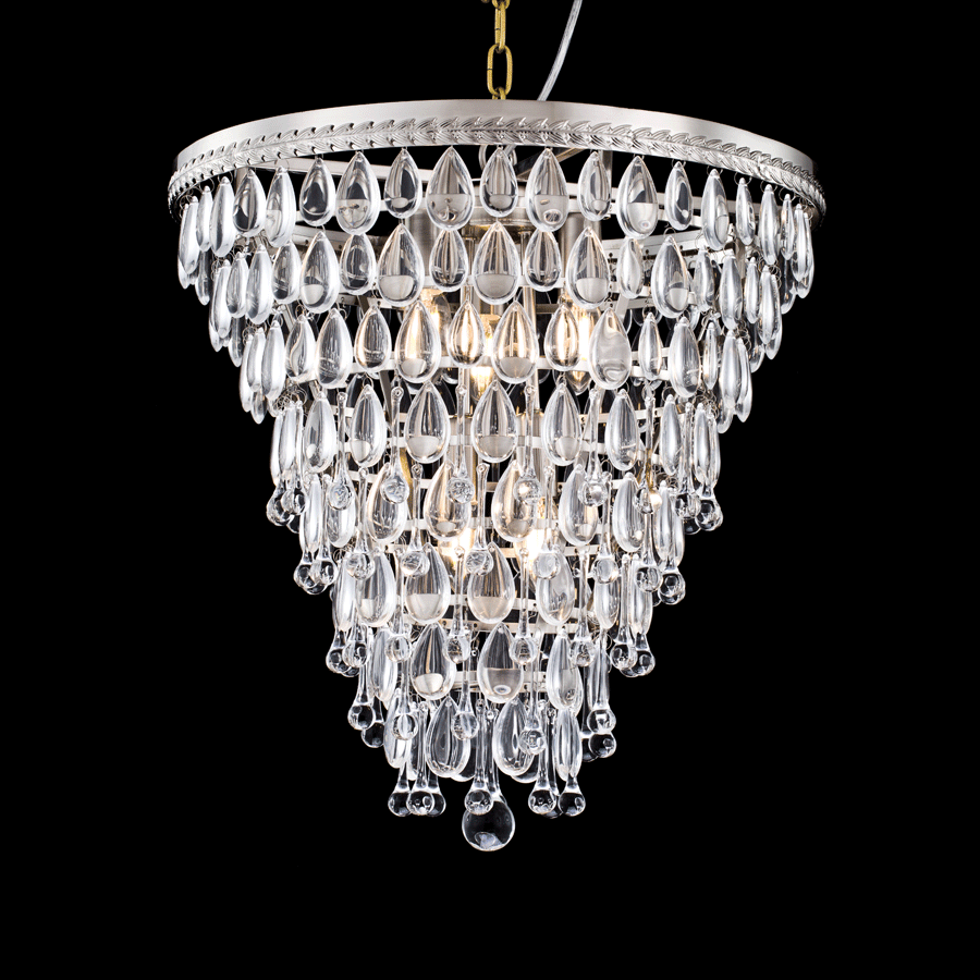 Buy Nickel Bronze Crystal Chandelier Online | Home Furnishing