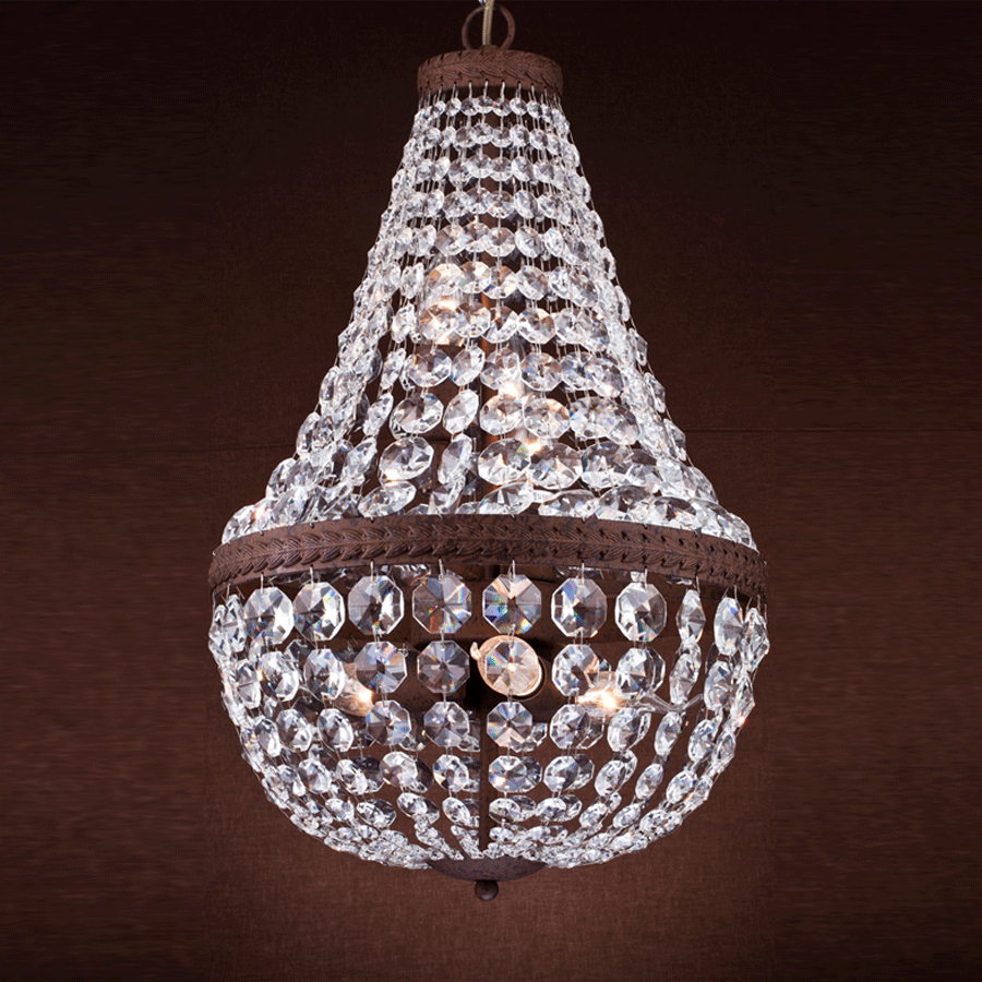 Buy Rust Effect Crystal Chandelier | Home to Luxury Furniture