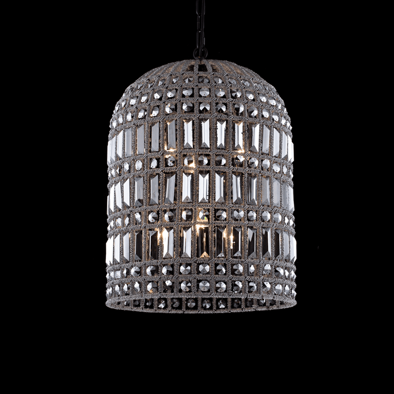 Crystal Smoke Cage Chandelier