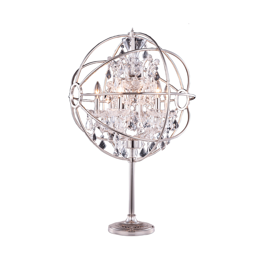 Nickel Crystal Orbit Table Lamp