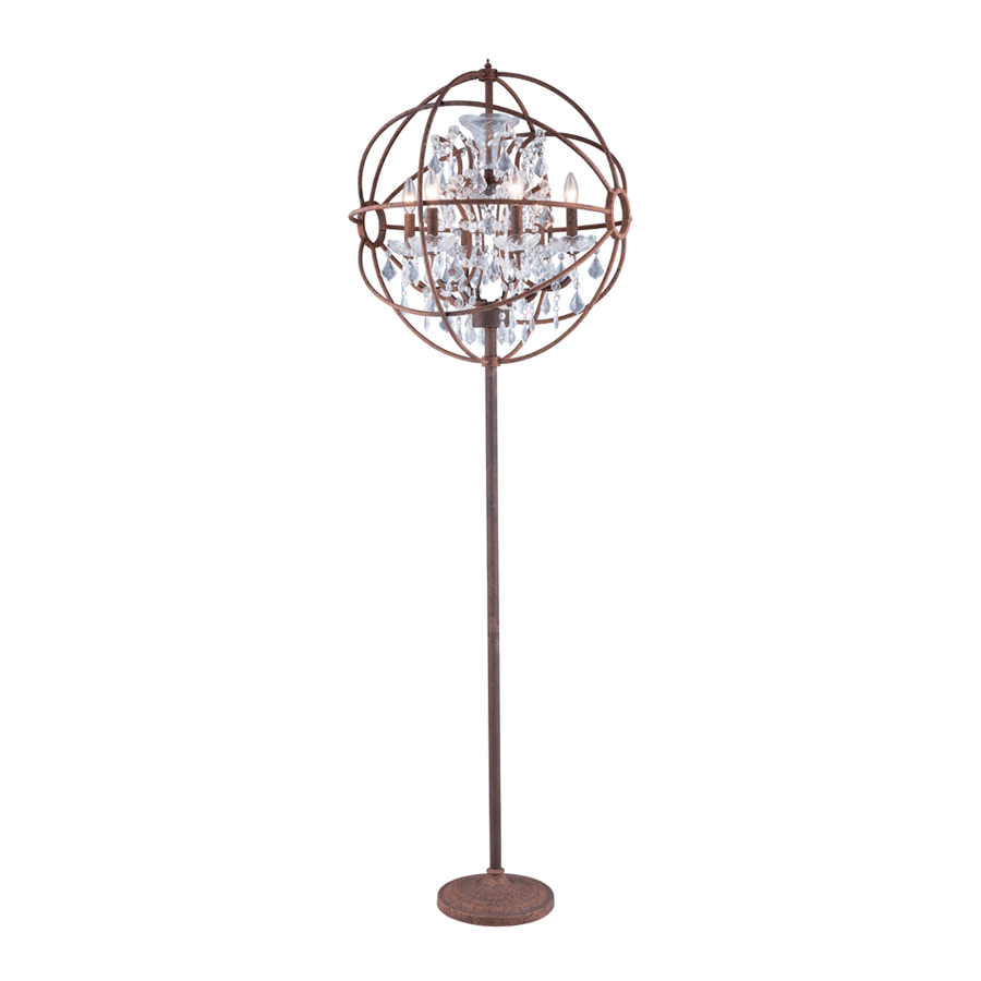 Buy Rust Effect Crystal Orbit Floor Lamp | Home Furnishing