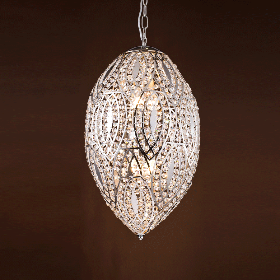 Buy Moroccan Drop Nickel Pendant Online | Home Furnishing