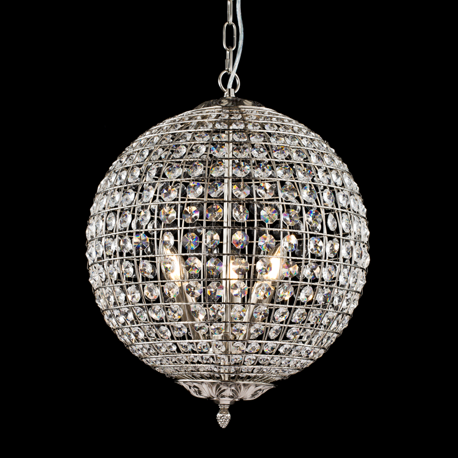 Buy Nickel Crystal Ball Chandelier Online | Home Furnishing