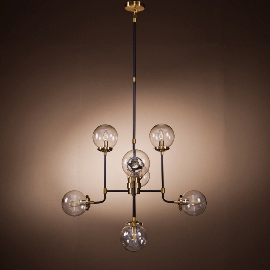 Buy Bronze Modern Globe Chandelier | Luxury Furniture