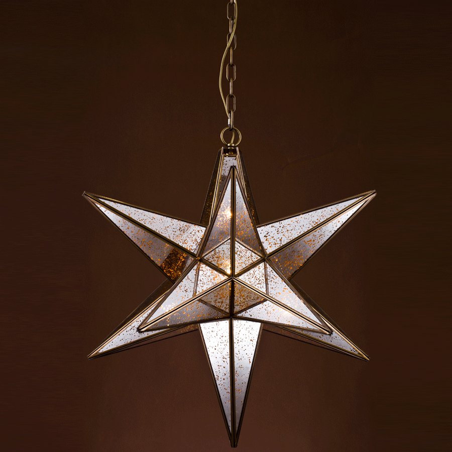 Buy Copper Star Chandelier Online | Home Furnishing Pakistan