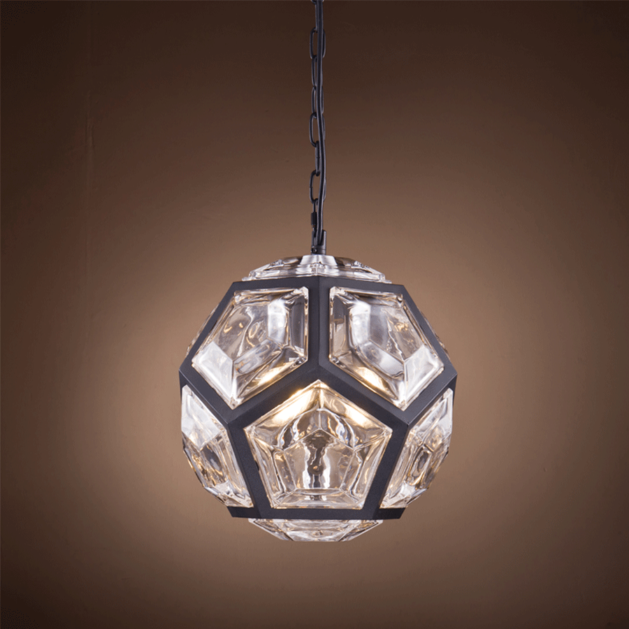 Buy Matt Black Pentagon Chandelier Online | Home Furnishing