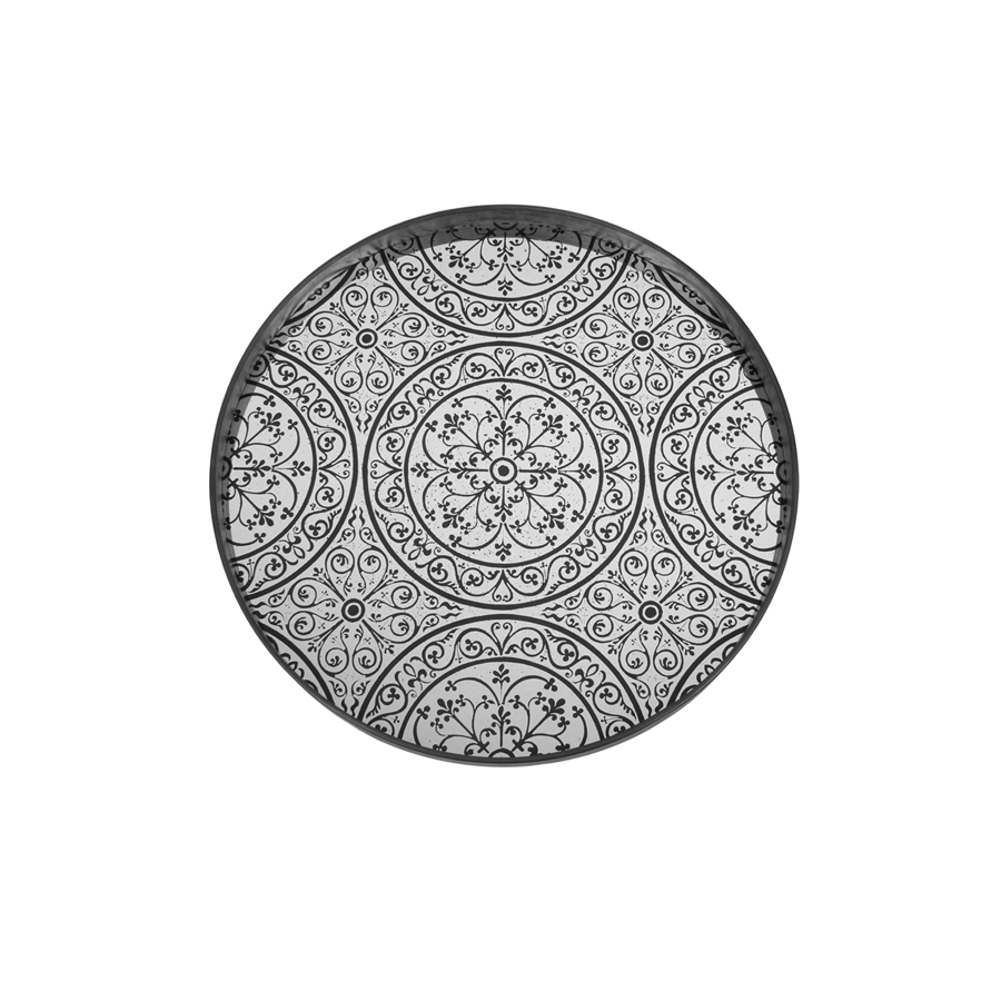 Buy Moroccan Chocolate Mirror Tray Online | Home Furnishing