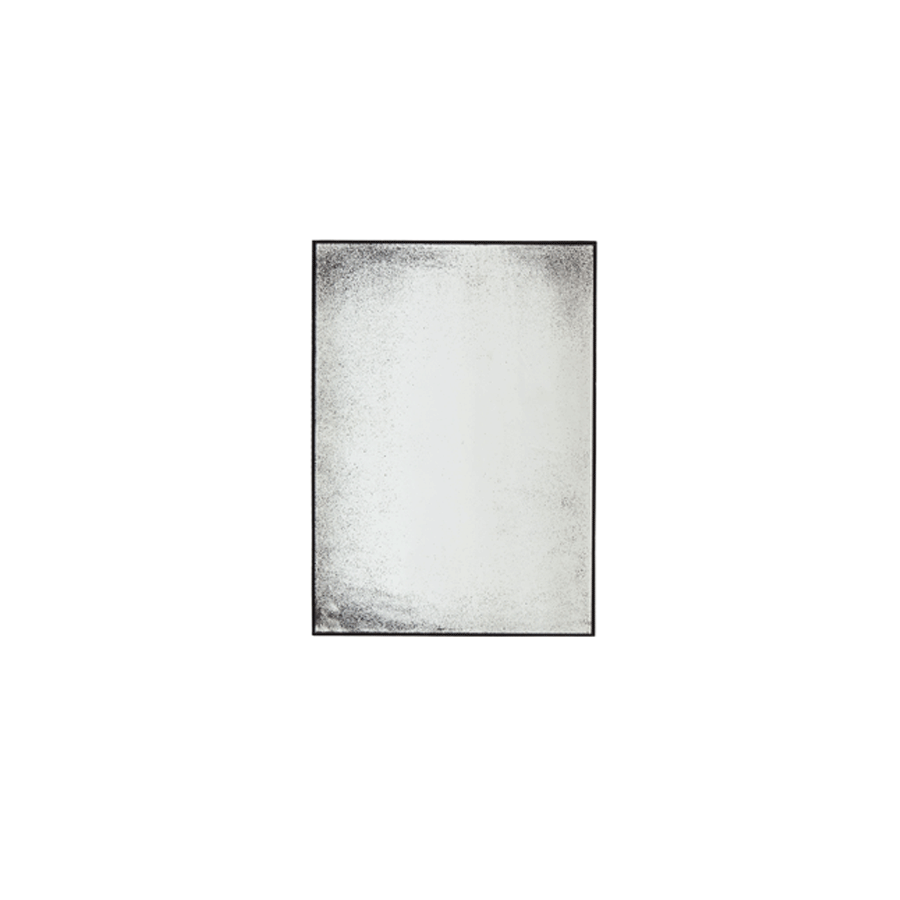 Clear Light Aged Rectangle Mirror