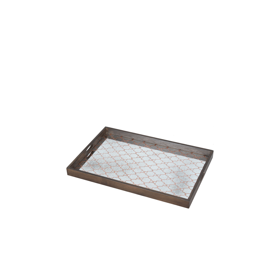 Buy Copper Gate Mirror Tray Online | Home Furnishing