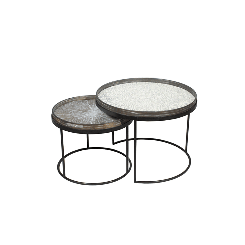 Round Low Tray Table Set