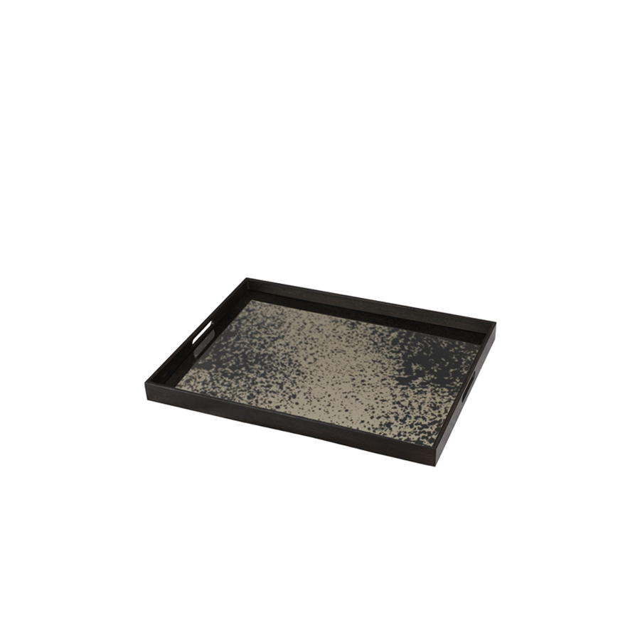 Buy Heavy Aged Bronze Mirror Tray Online | Home Furnishing