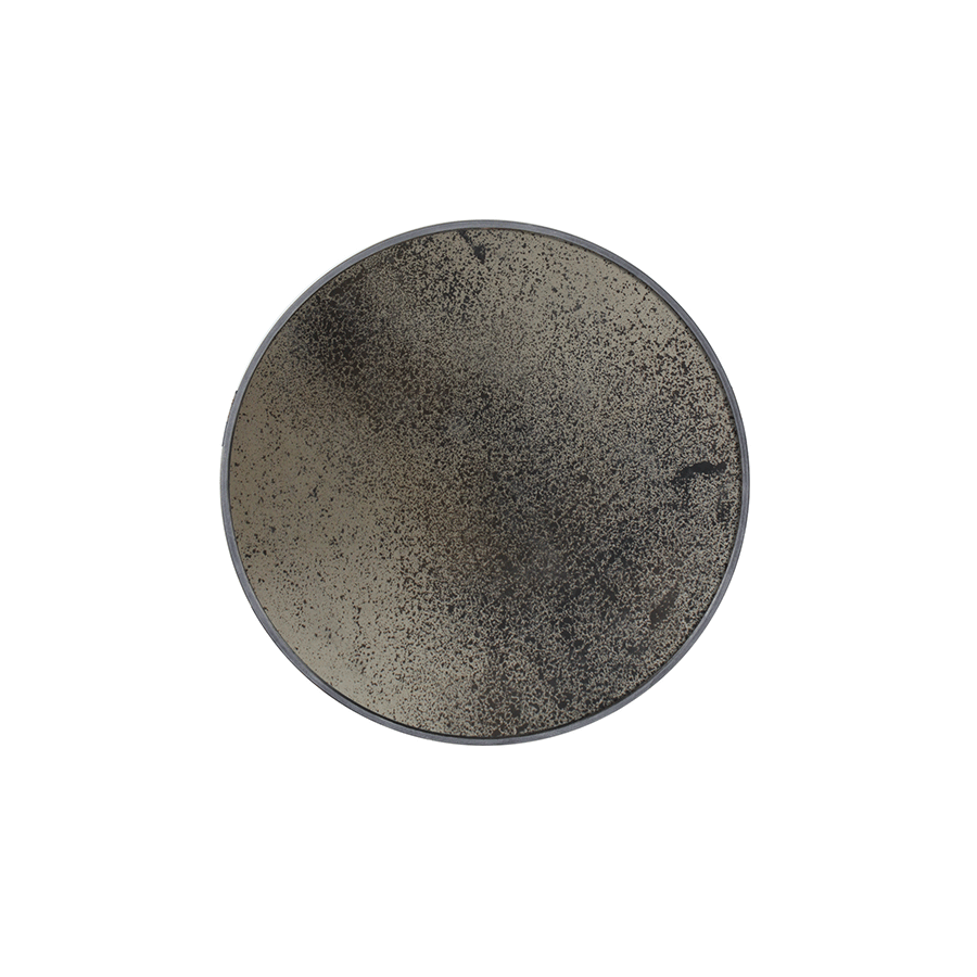 Bronze Heavy Aged Round Mirror