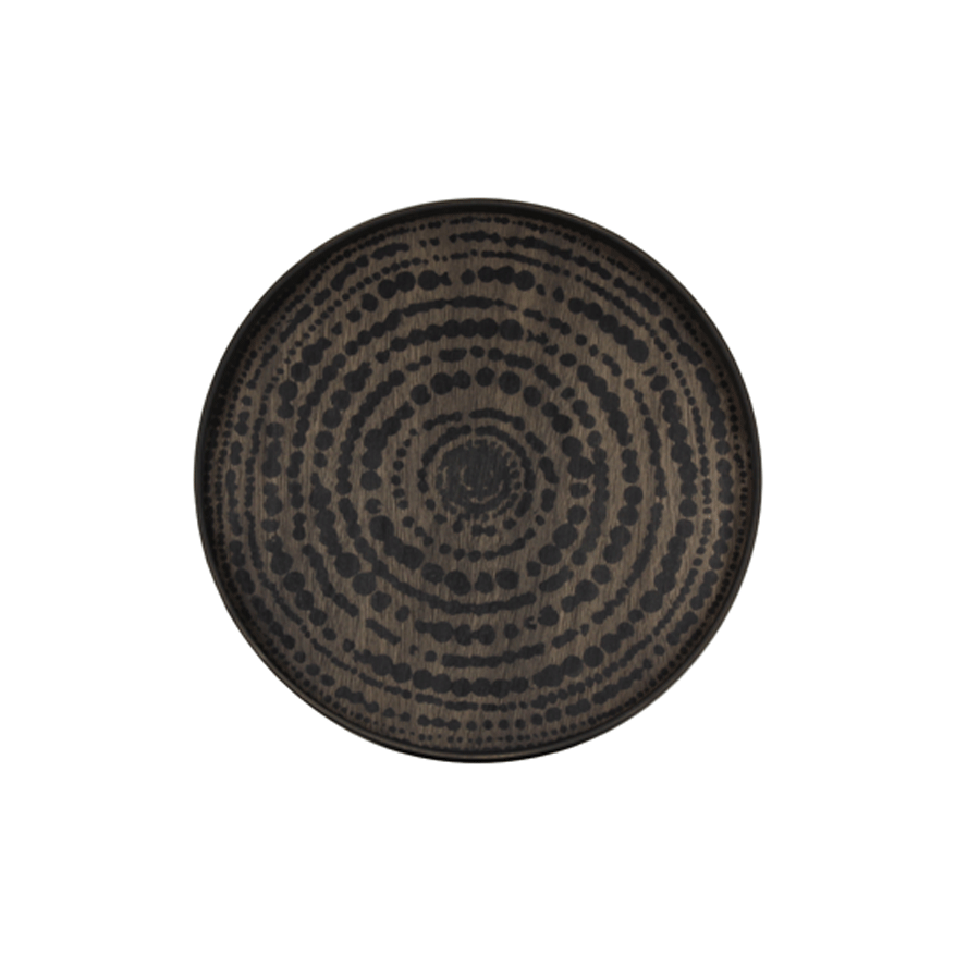 Buy Black Beads Driftwood Tray Online | Best Home Furnishing