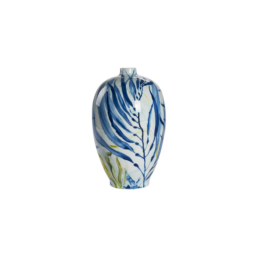 Buy Handpainted blue-green Ceramic Vase | Home Furnishing