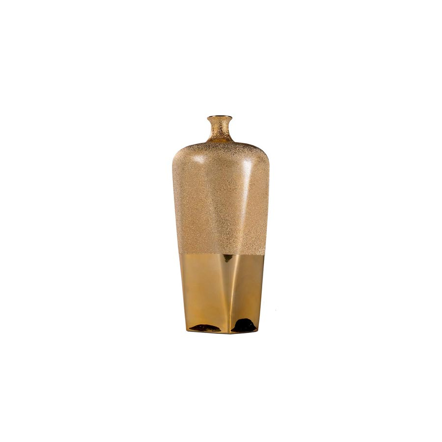 Buy Moondust gold porcelain narrow vase | Home Furnishing