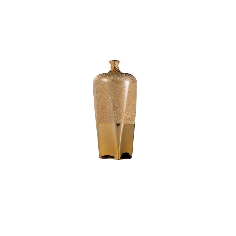 Moondust gold porcelain narrow vase