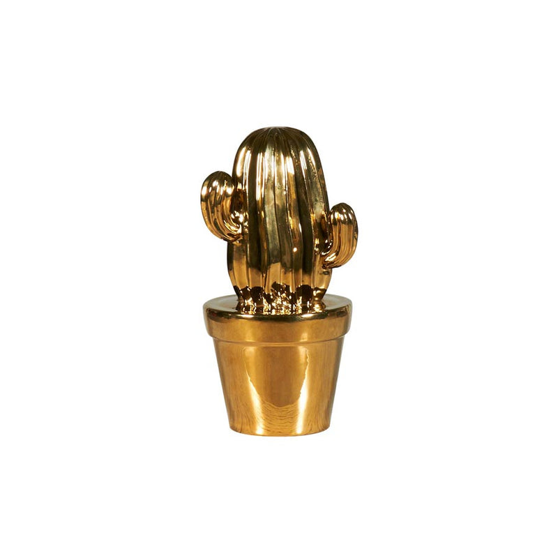 Buy Ribbed Cactus Gold Scuplture | Home Furnishing Pakistan