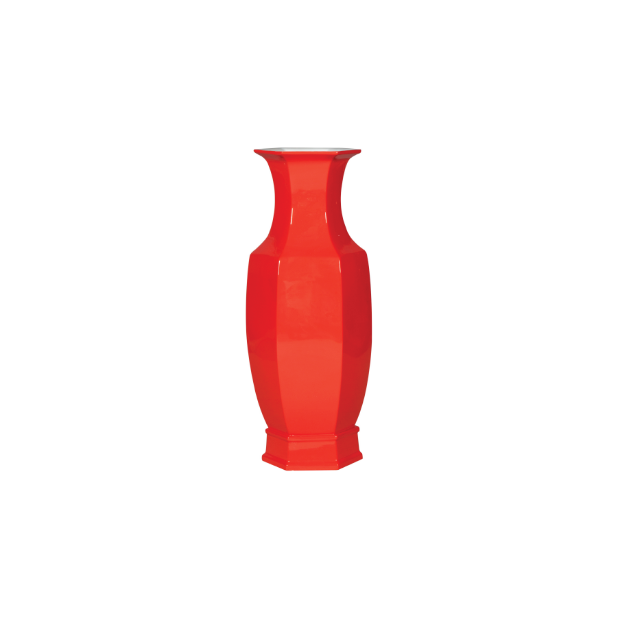 Burnt Orange Ceramic Vase