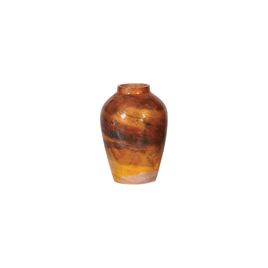 Buy Burnished Red Oval Ceramic Vase Online | Home Furnishing