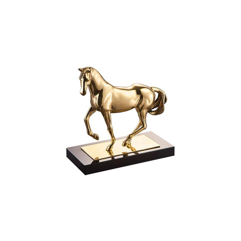 Buy Gold Stallion Sculpture Online | Home Furnishing Pakistan
