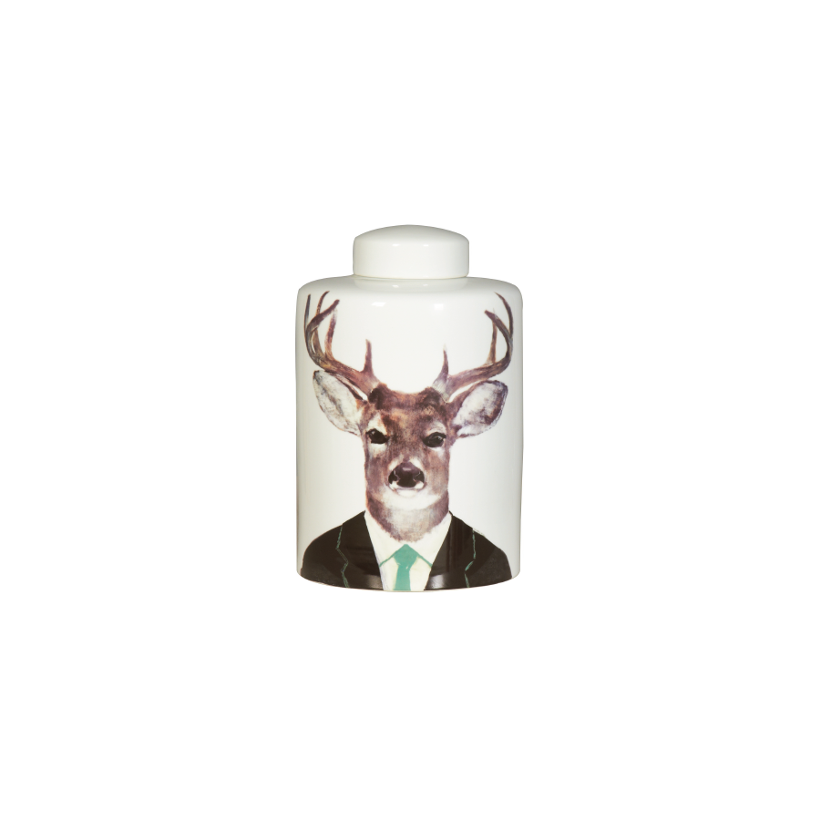 Buy Genteel Stag Ceramic Vase Online | Home Furnishing